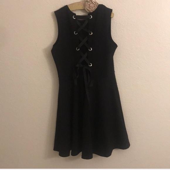The Vanity Room Dresses & Skirts - Little black dress, lace up size large